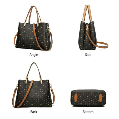FOXER Leather Handbags with Top Handle Bags
