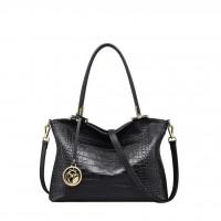 FOXER Splicy Design Women Vintage Elegant Black