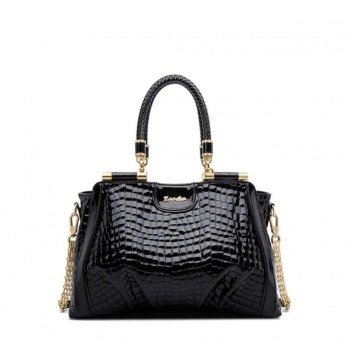 ZOOLER Elegant Black Genuine Leather Handbag