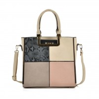 Sally Young Versatile Contrast Color Fashion Handbag