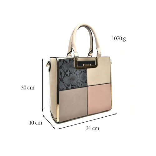 Sally Young Versatile Contrast Color Fashion Handbag