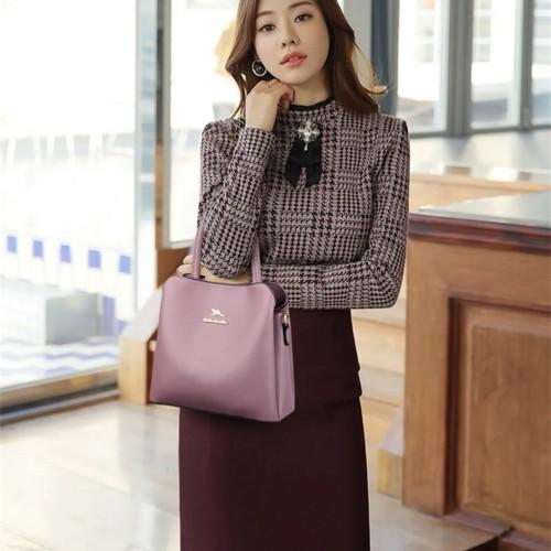 DIKAODAISHU Stylish Hobo Handbag with Beautiful Gold Hardware