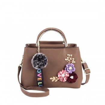 Cute Handbag with Flower Element Decoration