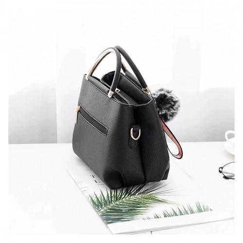 Cute Handbag with Flower Element Decoration