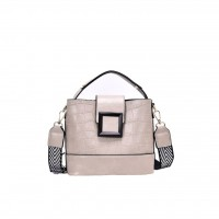 Sling Bag with Wide Strap and Patchwork Pattern