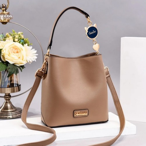 Solid Plain Functional Casual Sling Bag