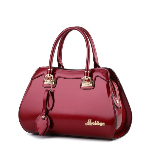 Beautiful and Luxury Patent Leather Handbag