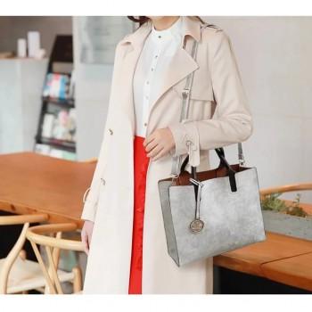 Three Pieces Handbags Large Capacity Soft Surface