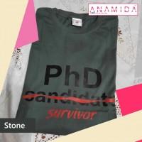 T-Shirt PhD Survivor Short Sleeves Stone Color