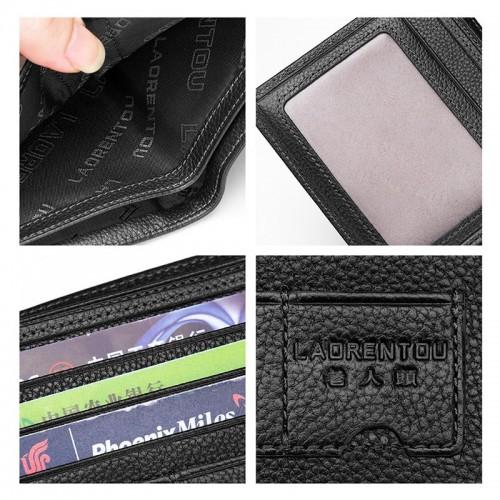LAORENTOU Genuine Leather Wallet for Men